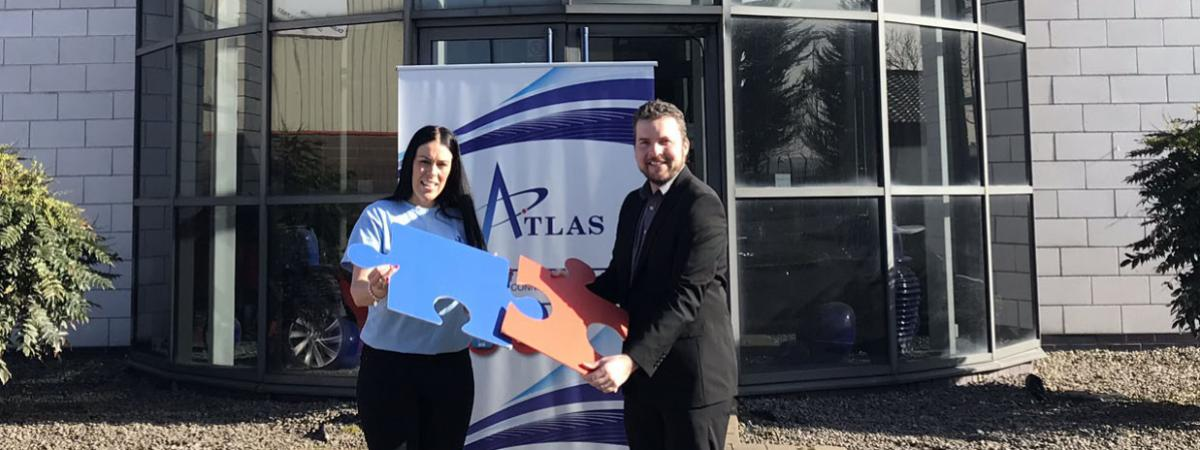 Richard Simpson, Atlas Managing Director, launches partnership with Sarah-Jayne Cassells from Autism NI