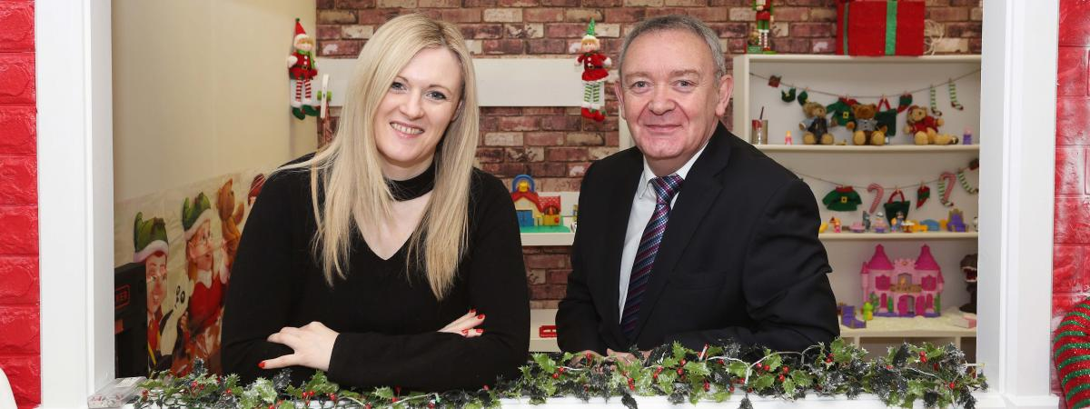 Francesca Kelly, Aurora Counselling and Damian McAteer, Vice Chair of UCIT