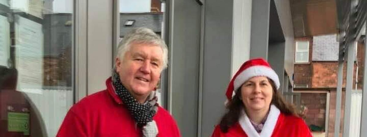 Pictured collecting on Christmas Eve for BCM on the Lisburn Road are Brian Gordon, Hanna Hyland and Reverend Emily Hyland, all of Belfast South Methodist Church