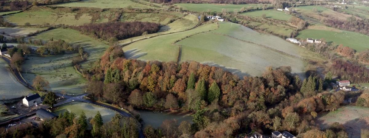 Aerial View over the spectacular Bonds Glen