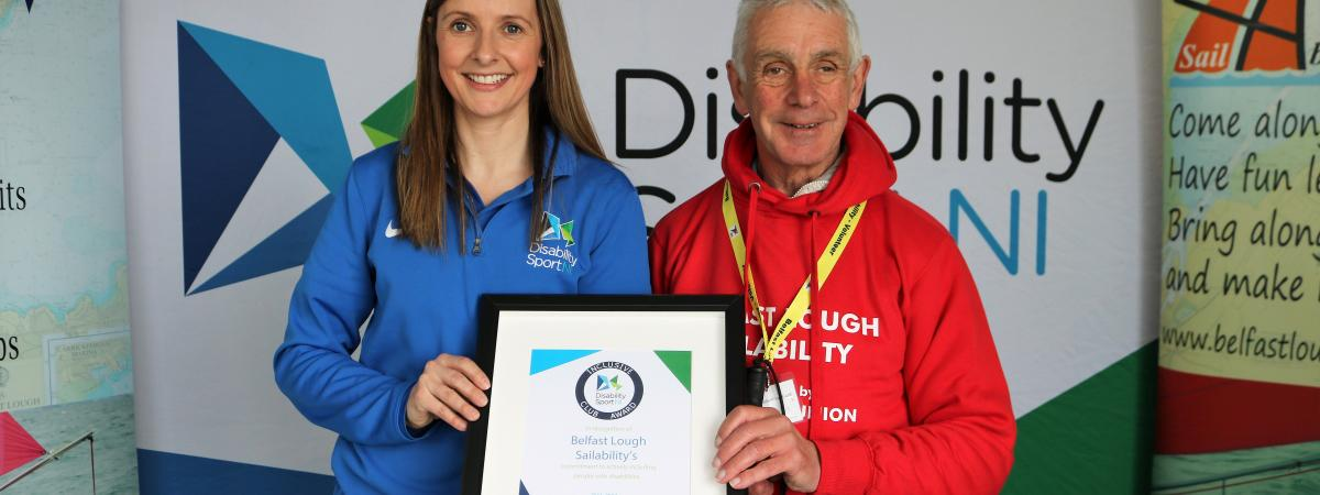 Local club sails to victory winning Disability Sport NI's 'Inclusive Club Award'.