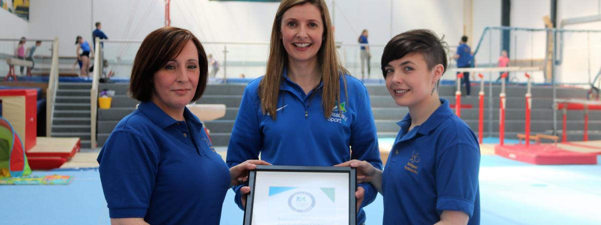 Local club cartwheels to victory winning Disability Sport NI's, 'Inclusive Club Award.'