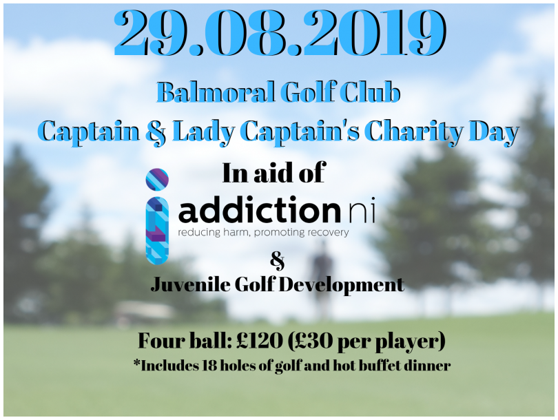 Balmoral Golf Club Charity Day in aid of Addiction NI