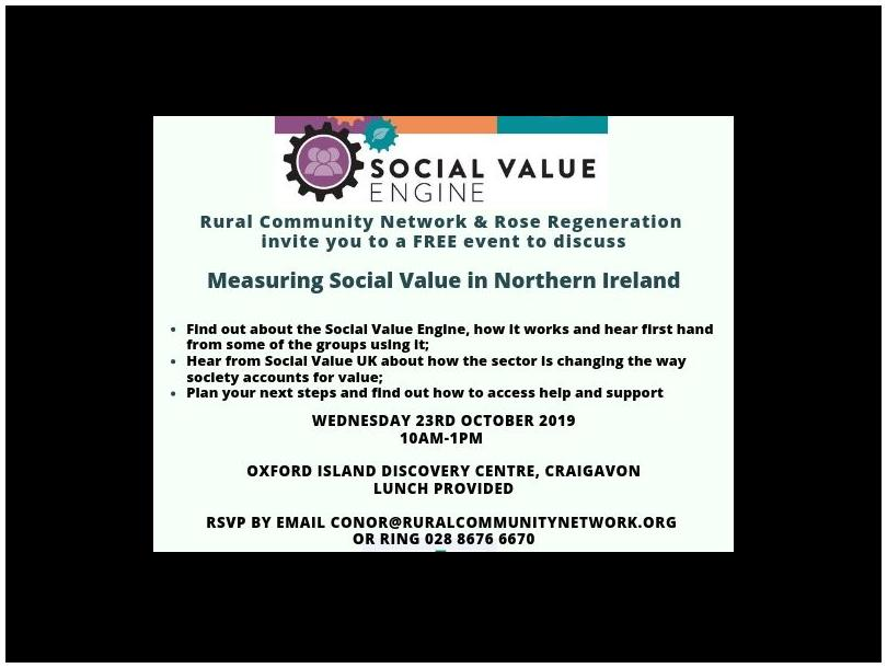 Invite to Measuring Social Value in Northern Ireland Seminar,