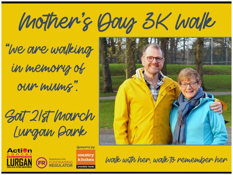 Who will you be walking for on 21st March?