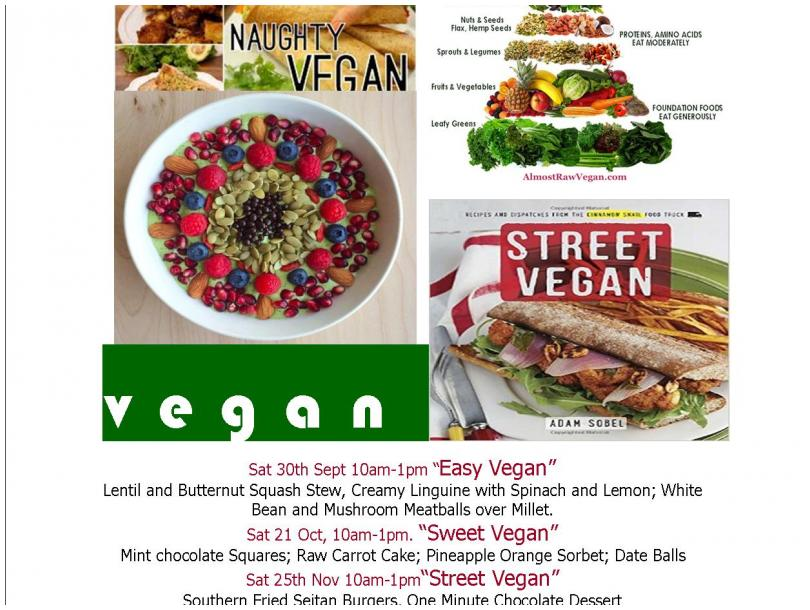 Learn to Cook Vegan: 4 workshops