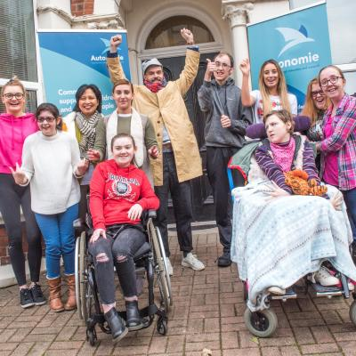 Young people that attend Autonomie's Freedom2Choose project were recently joined  at LILAC House by author and illustrator Oliver Jeffers, patron of the charity.