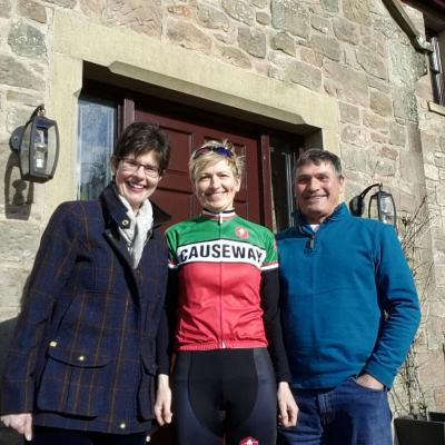 Vivienne Gilholm C&V Developments LTD, Susan Morgan Causeway Cycle Club and Colin Gilholm C&V Developments LTD.