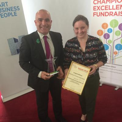 Barnardo's Ni and PwC win Fundraising Partnership of the Year Award 2018 from the Institute of Fundraising