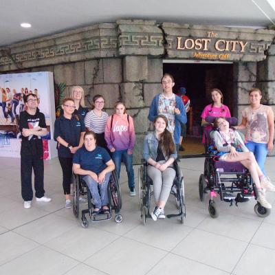As part of What Next? Summer Activities Programme participants enjoyed at trip to The Lost City Adventure Golf.