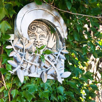 One of Oakfield Glen's crafty creations - a fairy-like sculpture hiding in the treetops