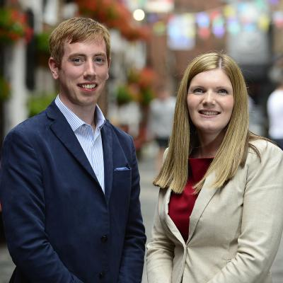 Joe Devlin and Laura McNamee have been chosen for this year's Future Leaders Connect programme