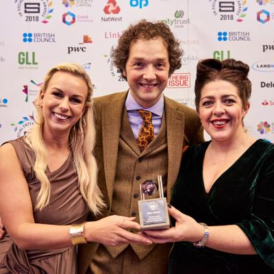 NOW Group collect SEUK Tech for Good Award