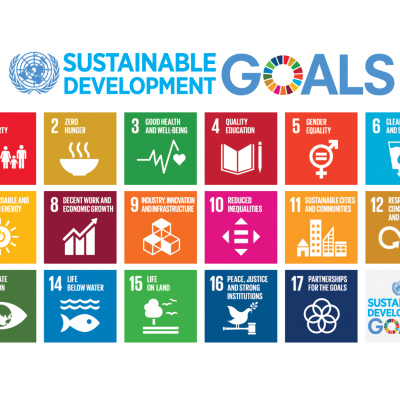 A diagram listing the 17 Sustainable Development Goals