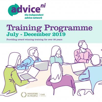 Advice NI Training Calendar July - December 2019