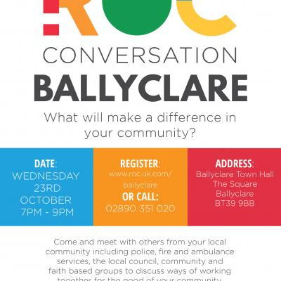 Join us on 23rd October for the Ballyclare ROC Conversation!