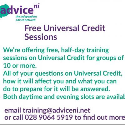 Free Universal Credit Sessions in your area