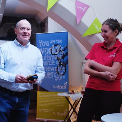 Individual volunteer winner John Lucas with Sustrans Volunteer Coordinator Rachael Ludlow-Williams