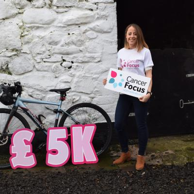 Cancer patient Julie Lillis, from Whiteabbey, cycled 300k to raise much-needed cash for Cancer Focus NI