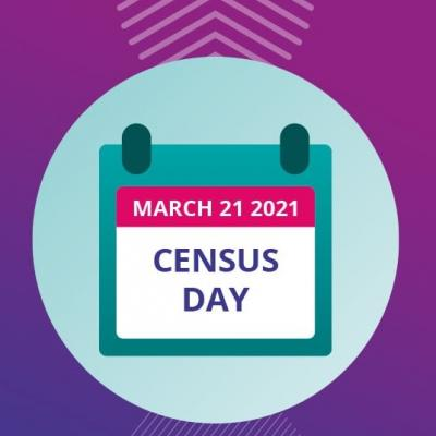Image shows calendar showing March 21st Census Day