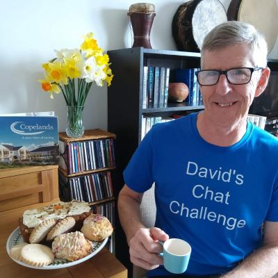 David will chat on Zoom for 36 hours to raise money for Copelands