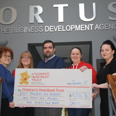 The Heart of Fundraising - The Ortus Group announce Charity Partnership 2016 Donation